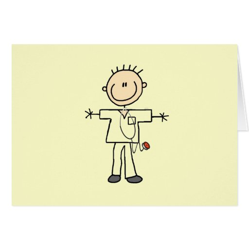 Male Stick Figure Nurse T-shirts and Gifts Cards