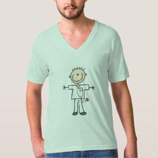 Male Stick Figure Nurse Tshirt
