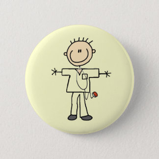 Male Stick Figure Nurse Tshirts and Gifts 6 Cm Round Badge