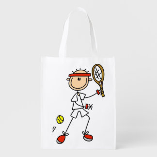 Male Stick Figure Tennis Player