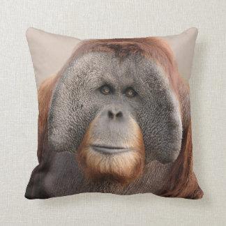 Male Sumatran Orangutan Wildlife Pillow