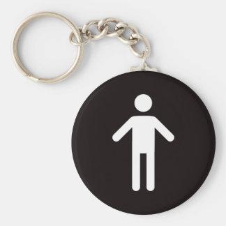 Male symbol key ring