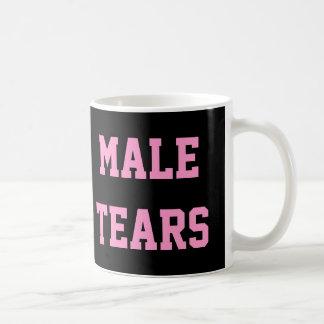 Male Tears Ironic Misandry Pink Black Coffee Mug