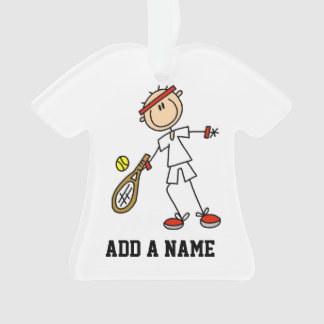 Male Tennis Player Ornament