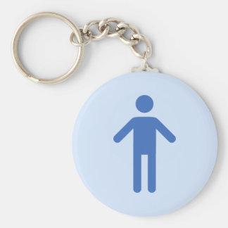 Male toilet symbol key ring