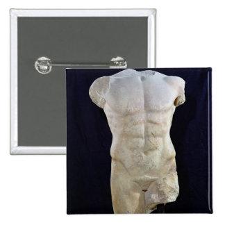 Male torso from Miletus, c.480 BC 15 Cm Square Badge