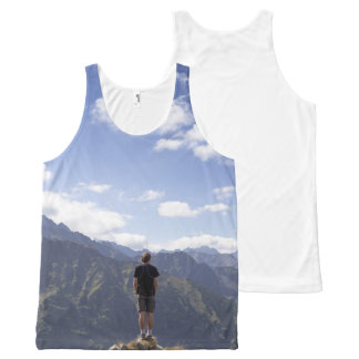 Male Traveler Shirt for Summer All-Over Print Tank Top