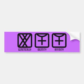 MaleFemale to Female Light Bumper Sticker