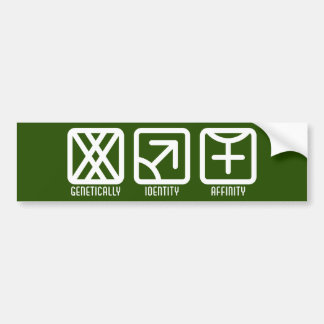 MaleMale to Female Dark Bumper Sticker