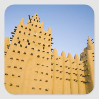 Mali, Djenne. Grand Mosque Square Sticker