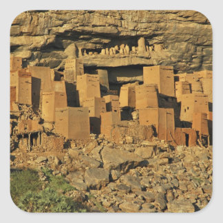 MALI, Dogon Lands. Traditional Tellem malian Square Sticker