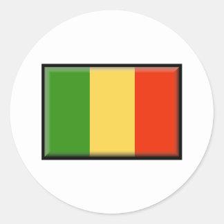 Mali Flag Classic Round Sticker