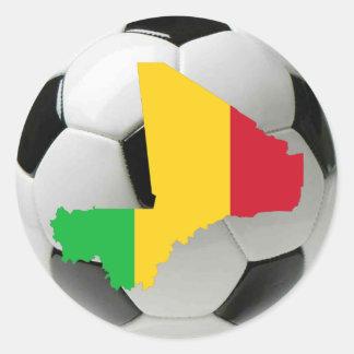 Mali football soccer classic round sticker