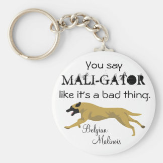 Mali-Gator Basic Round Button Key Ring
