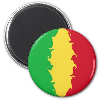 Mali Gnarly Flag 6 Cm Round Magnet