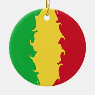 Mali Gnarly Flag Christmas Ornament