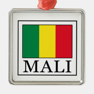 Mali Silver-Colored Square Decoration