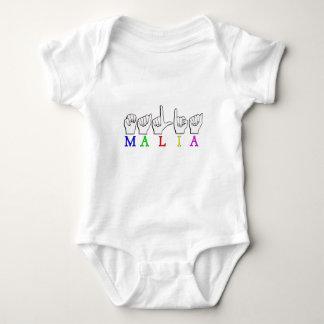 MALIA    ASL FINGER SPELLED TEE SHIRT
