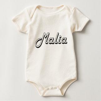 Malia Classic Retro Name Design Romper