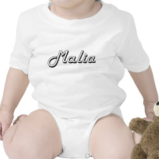 Malia Classic Retro Name Design Bodysuit