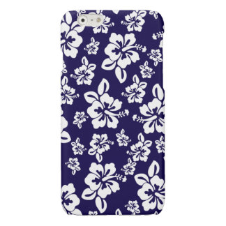 Malia Hibiscus - Blue Hawaiian Pareau Print iPhone 6 Plus Case