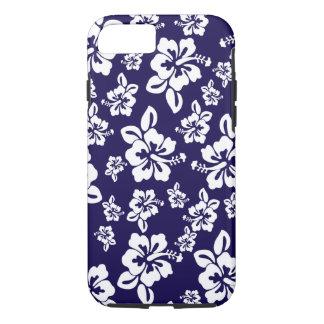 Malia Hibiscus - Blue Hawaiian Pareau Print iPhone 8/7 Case