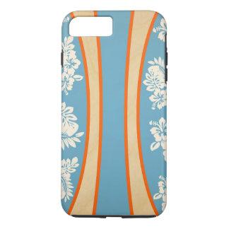 Malia Hibiscus - Blue Hawaiian Pareau Print iPhone 8 Plus/7 Plus Case