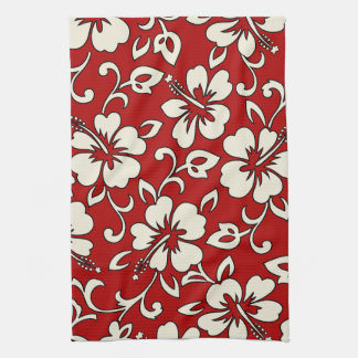 Malia Hibiscus Hawaiian Kitchen Towel