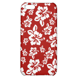Malia Hibiscus  -  Red Hawaiian Pareau Print iPhone 5C Covers