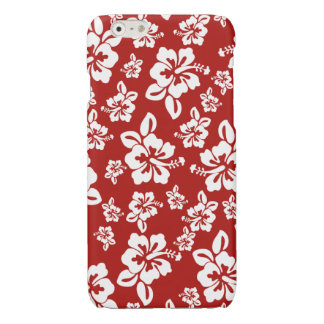 Malia Hibiscus  -  Red Hawaiian Pareau Print iPhone 6 Plus Case