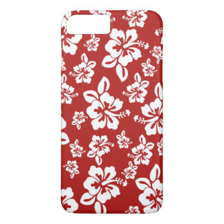 Malia Hibiscus  -  Red Hawaiian Pareau Print iPhone 8 Plus/7 Plus Case