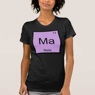 Malia Name Chemistry Element Periodic Table Shirt