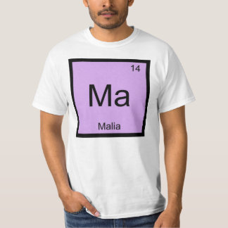 Malia Name Chemistry Element Periodic Table T-Shirt