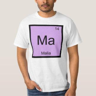 Malia Name Chemistry Element Periodic Table T-shirt