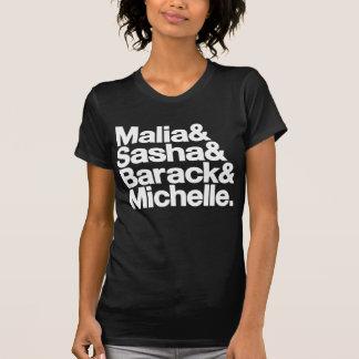 Malia & Sasha & Barack & Michelle Tshirt