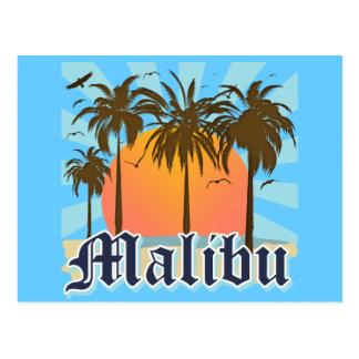Malibu Beach California CA Postcard