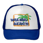 Malibu Beach Palm Tree Trucker Hats
