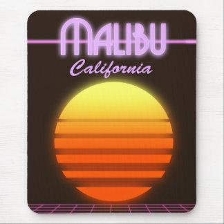 Malibu California sunset travel poster Mouse Pad