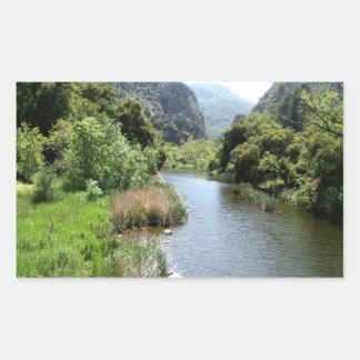 Malibu Creek Rectangle Sticker