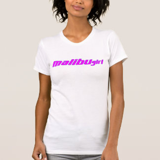 Malibu Girl Hot Pink Purple Outline T-Shirt
