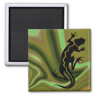 """Malibu Salamander"" by Cheryl Daniels Square Magnet"