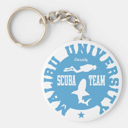 Malibu Scuba Basic Round Button Key Ring