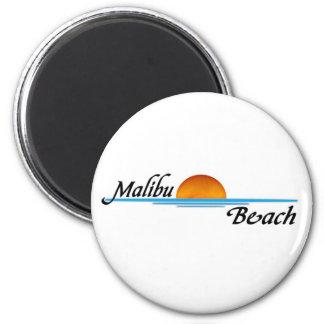 Malibu Sunset 6 Cm Round Magnet