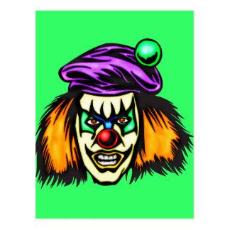 Malicious Evil Clown Postcard
