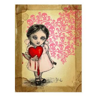 Malicious Valentine Girl Postcard