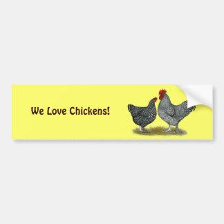 Maline Chickens Bumper Sticker