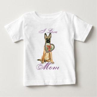 Malinois Heart Mom Baby T-Shirt