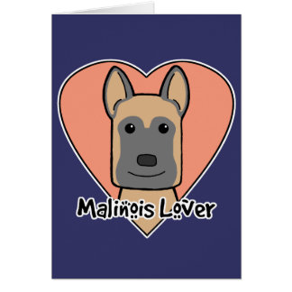 Malinois Lover Card