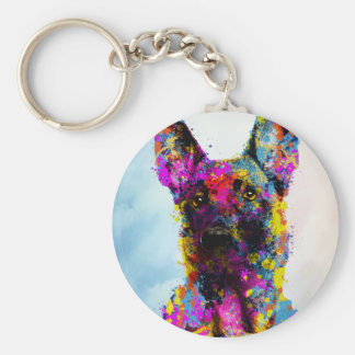 Malinois puppy - Belgian shepherd -Mechelaar Key Ring