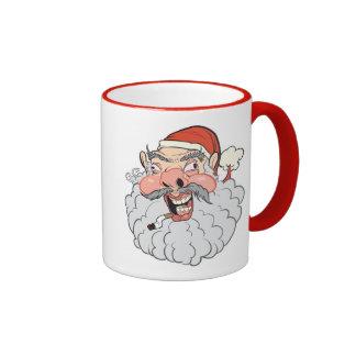 Mall Santa Ringer Coffee Mug